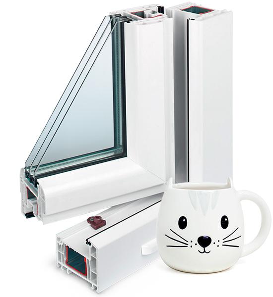 Трехстворчатые окна Rehau BRILLANT-Design 2500 х 2400мм