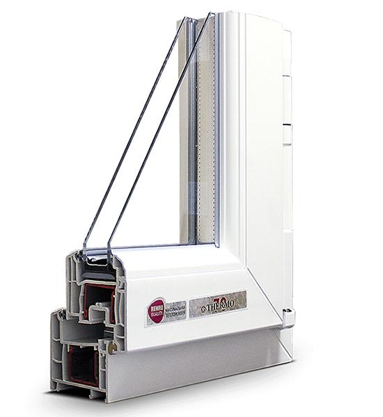 Трехстворчатые окна Rehau THERMO-Design 2500 х 2400мм