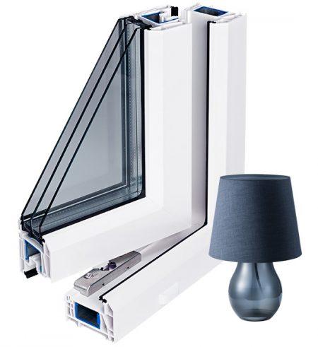 Трехстворчатые окна Rehau Grazio 2500 х 2400мм