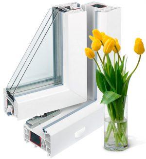 Трехстворчатые окна Rehau Intelio 80 2500 х 2400мм